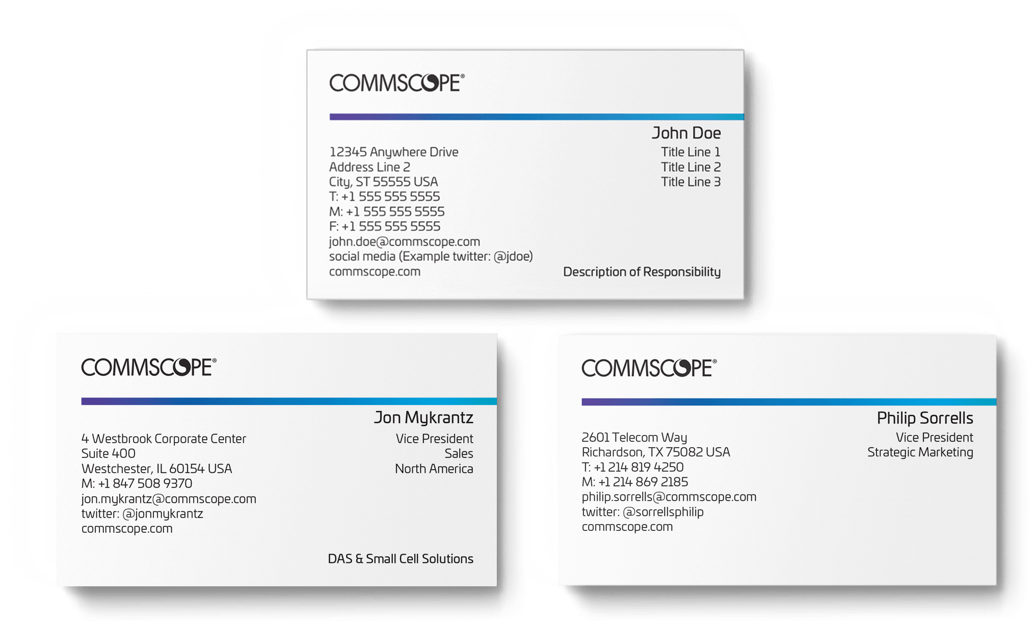 Commscope online stationery store standard business card colourmoves